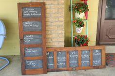Primitive & Proper: chalkboard message doors from doors chalkboards, color, blackboard paint, chalkboard paint, cabinet doors, barns, old doors, blackboards, antiques