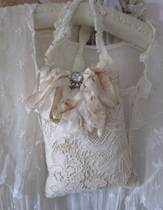 Shabby Chic Organic Lavender Door Pillow