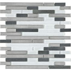 For master bath. 12-in x 14-in Glacier Links Mosaic Wall Tile (Actuals 12-in x 14-in)