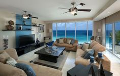 decor Cool living room with beautiful ocean decor