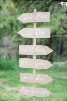 diy wedding sign #diy #weddingsign #weddingchicks http://www.weddingchicks.com/2014/03/26/elegant-pink-and-navy-colorado-wedding/