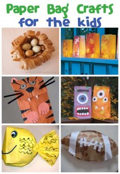 Fun paper bag craft ideas!  Can never have too many ideas for easy crafts...