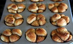 Easy mini monkey breads!  So much better than a big monkey bread!