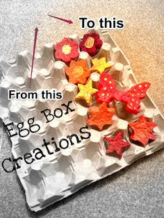 Making great items from egg boxes is so easy.