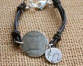 silver basebal, numbers, bracelets, baseball, sterl silver