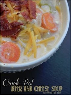 All Day Beer and Cheese Soup is one of those easy slow cooker soup recipes that's perfect on a chilly night.