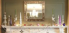 Love this glitzy mantle