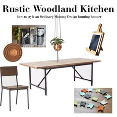 """""""Rustic Woodland Kitchen"""" by ordinarymommy on Polyvore"""