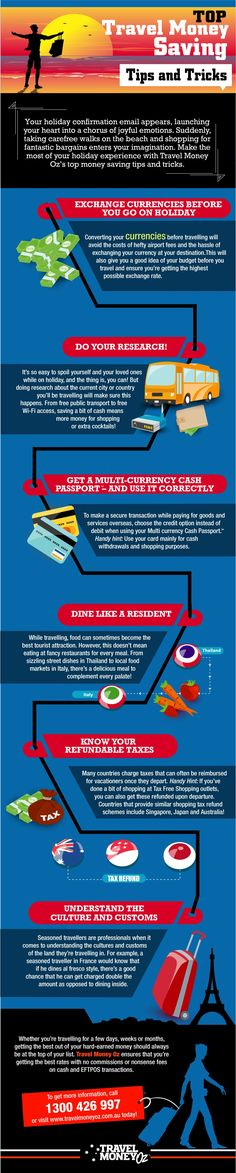 Infographic: Top Travel Money Saving Tips and Tricks