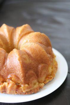 Peach Vanilla Bean Bundt Cake with Peach Soaking Syrup