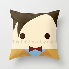 haha Doctor Who Pillow Doctor Who Throw Pillow Doctor Who by telahmarie, $25.00