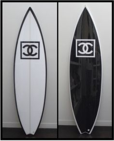 Black & White - Chanel Surfboards