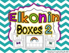 Use elkonin boxes to increase phonemic segmentation. 125 picture cards included in 2 sizes. $