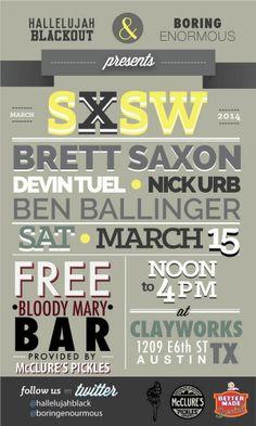 Hallelujah Blackout / Boring Enormous SXSW 2014 #sxsw2014