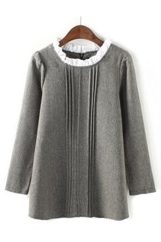 Elegant A-line Linen Dress