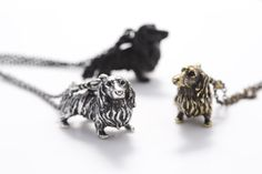 Long-haired Dachshund necklace