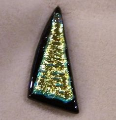 FREE S - Cabochon -Lots of Bling - Dichroic Glass - A JewelryArtistry Original - DC101