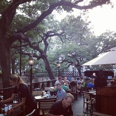 The beautiful view from the patio at Vic's on the River in Savannah
