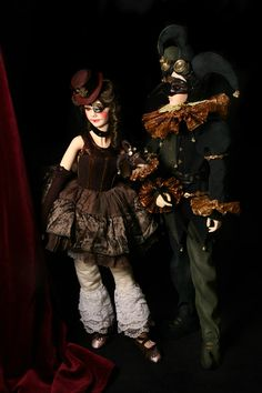 Pics of BJD dolls in steampunk style. Here are some photos from different authors. Their dolls are in costumes in steampunk style or even modifiied to robots.