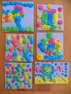 selfris flour, foods, puffi paint, puffy paint, food coloring, paints, paint brushes, kid crafts, puff paint
