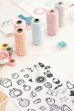 Design ideas for the rubber stamps!