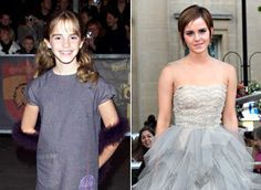 Emma Watson from the first and last movie premieres.