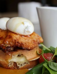 Visiting Seattle? Take note: ART Restaurant's Fried Chicken Benedict with Waffles is legendary. (Click through for recipe.)