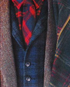 plaid + tweed