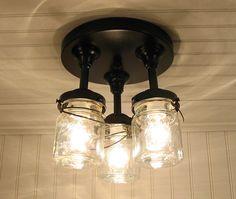 Mason Jar Porch Light