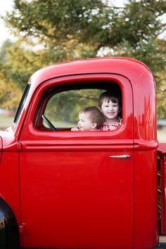 boys truck holiday vintage  rodeo & co. photography