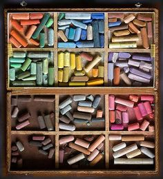 chalk pastels. a sure sign of summer. yum!
