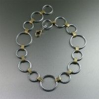 Hammered Aluminum Chain Necklace with Nu Gold ... | Aluminum Jewelry