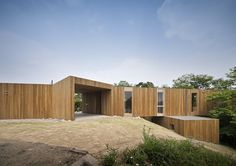 Cantilevered Cedar-Clad Japanese House Lets Trees Grow Through its Frame