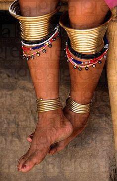 Thailand | Legs of a long neck woman in Chiang Rai | © Melba