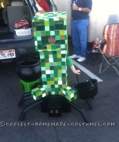 Most Amazing DIY Minecraft Costume for a Boy... Coolest Halloween Costume Contest