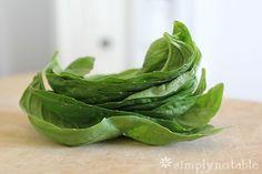 Preserving Fresh Herbs in Olive Oil