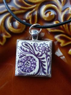 Black & White Handcrafted Polymer Clay Square by Megadesignz, $22.00