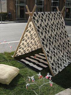DIY: Fabric Pup Tent