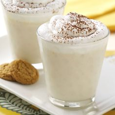 Eggnog Beverage Recipes from Taste of Home, including Banana Nog