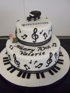 Wedding cake idea, minus the Piano.