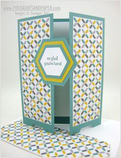 Hexagon gatefold card ... by Linda Aarhus