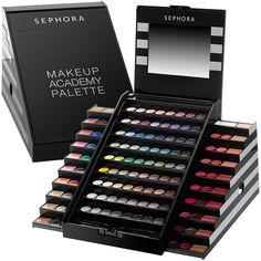 academi palett, blockbust, makeup palett, sephora collect, makeup academi, beauti, edit set, palett 2013, sephora makeup