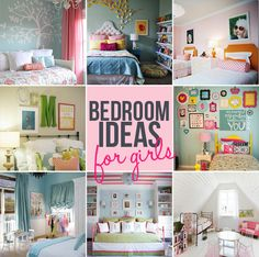 girls bedroom ideas diy roundup #diy #tutorial #decor