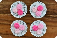 Pink Rose Cream Cheese Party Mints