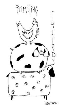classroom idea, sew, prim friend, pattern, farms, art, farm anim, embroideri