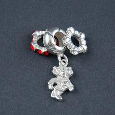 Bead set wisconsin pandora style bead wisconsin silver pandora bead