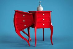 The Siamese Collection Was Inspired By Unusual Embryonic Development #warped #furniture #sculptural