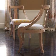Custom Josephine Dining Chair - Dark Walnut   Serena & Lily