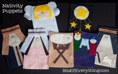 Simple Nativity Puppets:   Tutorial and patterns