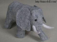 Elefant felt, tutorial
